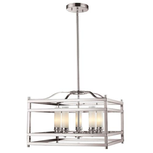 Z-Lite Altadore Brushed Nickel Five Light Pendant