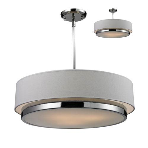Extra large drum pendant lighting bellacor z lite jade three light large chrome convertible drum pendant with white linen shade aloadofball Images