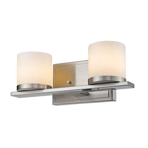 Z-Lite Nori Brushed Nickel Two-Light Vanity Fixture