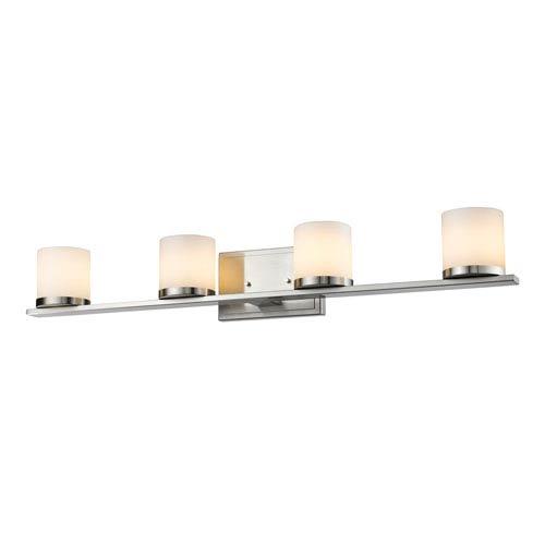 Z-Lite Nori Brushed Nickel Four-Light Vanity Fixture