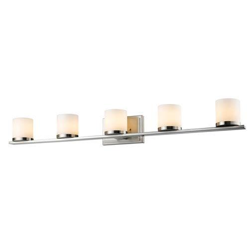 Z-Lite Nori Brushed Nickel Five-Light Vanity Fixture