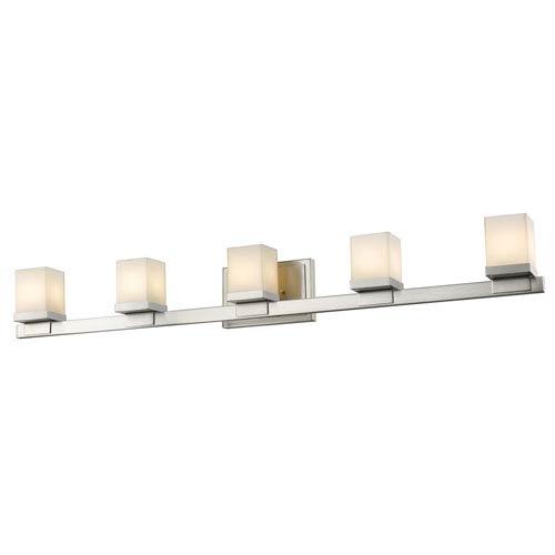 Z-Lite Cadiz Brushed Nickel Five-Light Vanity Fixture