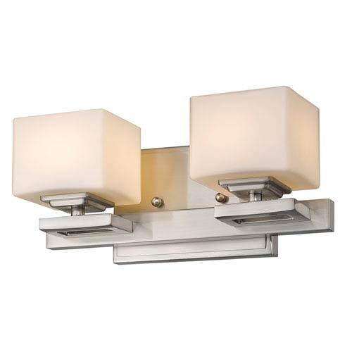 Z-Lite Cuvier Brushed Nickel Two-Light LED Bath Vanity