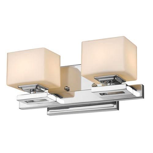 Z-Lite Cuvier Chrome Two-Light LED Bath Vanity