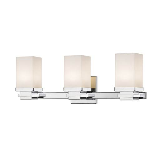 Avige Chrome Three-Light LED Vanity