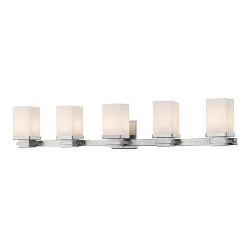 Z-Lite Avige Brushed Nickel Five-Light LED Vanity