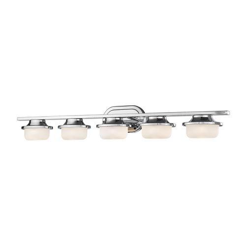 Optum Chrome Five-Light LED Vanity