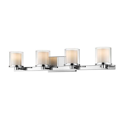 Z-Lite Schema Chrome Four-Light LED Vanity