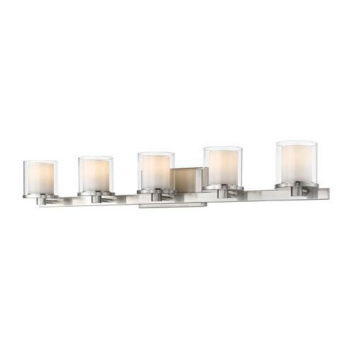 Schema Brushed Nickel Five-Light LED Vanity