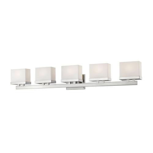 Z-Lite Rivulet Brushed Nickel Five-Light LED Bath Vanity