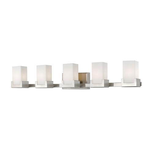Peak Brushed Nickel Five-Light LED Bath Vanity