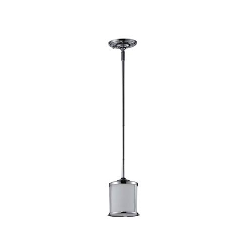 Z-Lite Sonna One-Light Chrome Mini Pendant with Matte Opal Glass Shade