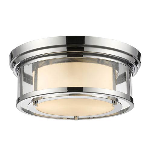 Z-Lite Luna Chrome Thirteen-Inch Flushmount