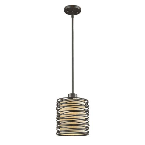 Zinnia Bronze One-Light Mini Pendant