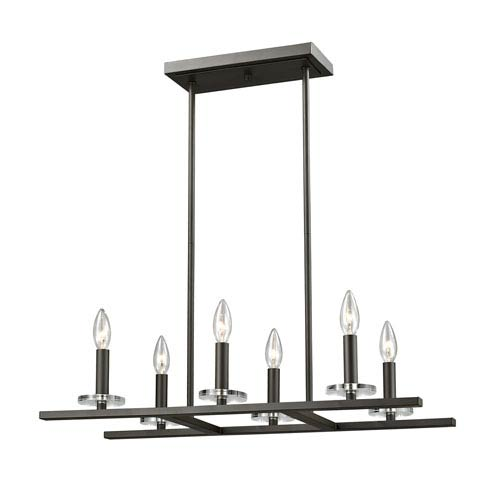 Verona Bronze Six-Light Chandelier