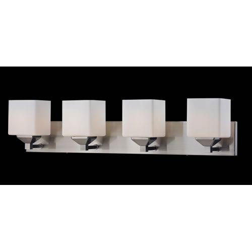 Quube Four-Light Bathroom Fixture
