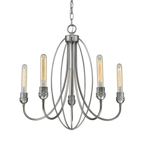 Persis Old Silver Five-Light Chandelier