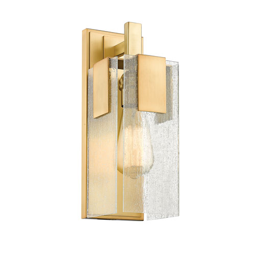 Z-Lite Gantt Vintage Brass One-Light  Wall Sconce