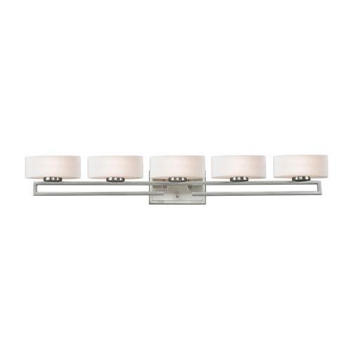 Z-Lite Cetynia Brushed Nickel Five-Light LED Bath Vanity