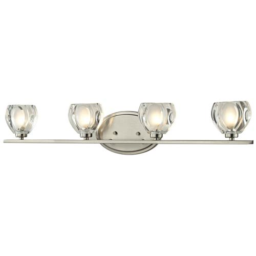 Z-Lite Hale Brushed Nickel Four-Light Vanity Fixture