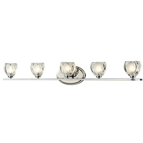 Z-Lite Hale Chrome Five-Light Vanity Light