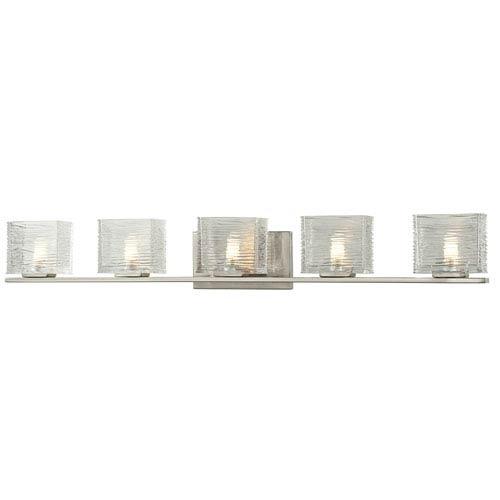 Jaol Brushed Nickel Five-Light LED Bath Vanity