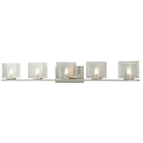 Z-Lite Jaol Brushed Nickel Five-Light Vanity Light