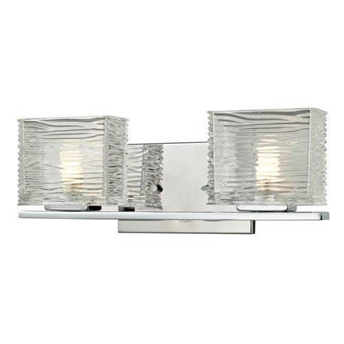 Z-Lite Jaol Chrome Two-Light LED Bath Vanity