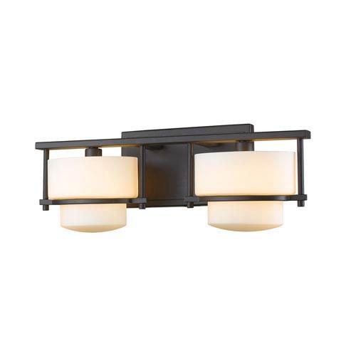 Z-Lite Porter Bronze Two-Light LED Bath Vanity
