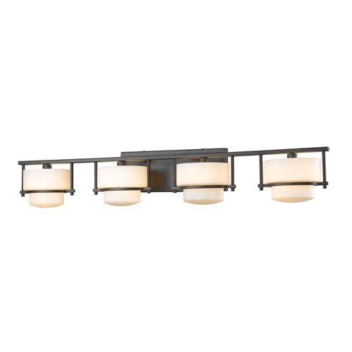 Z-Lite Porter Bronze Four-Light LED Bath Vanity
