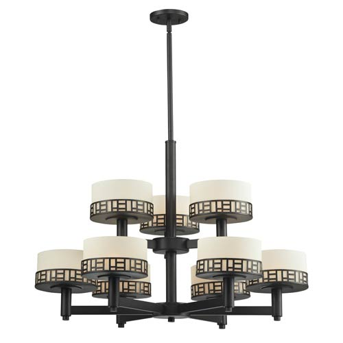 Elea Bronze Nine-Light Chandelier