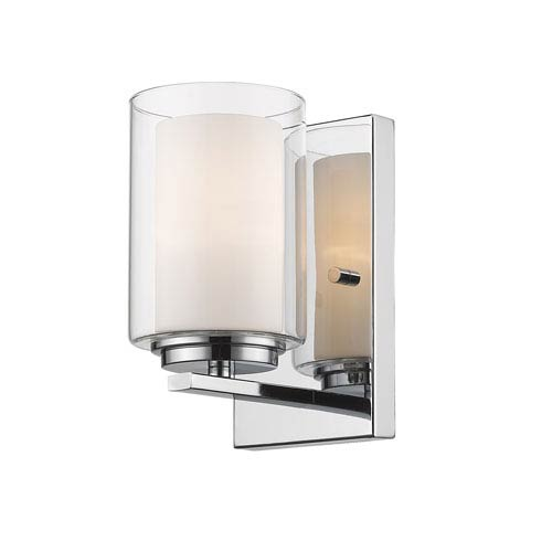 Z-Lite Willow Chrome One-Light Wall Sconce