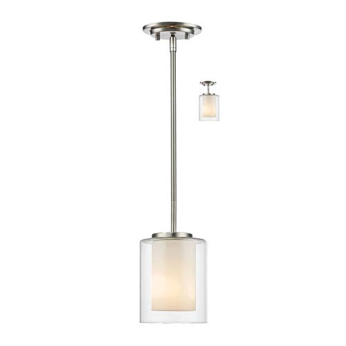 Z-Lite Willow Brushed Nickel One-Light Mini Pendant