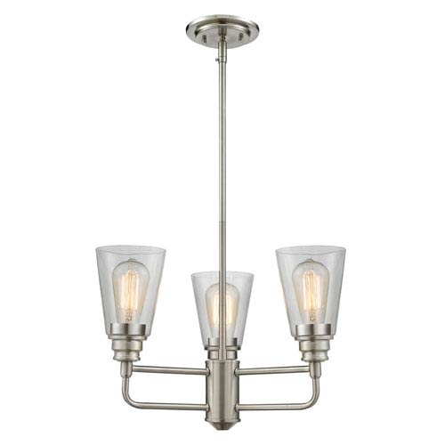 Z-Lite Annora Brushed Nickel Three-Light Chandelier