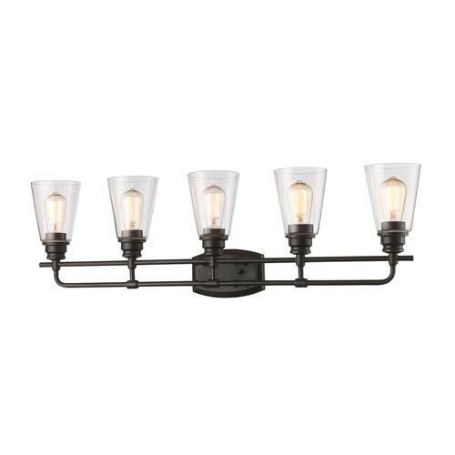 Annora Olde Bronze Five-Light Vanity Fixture