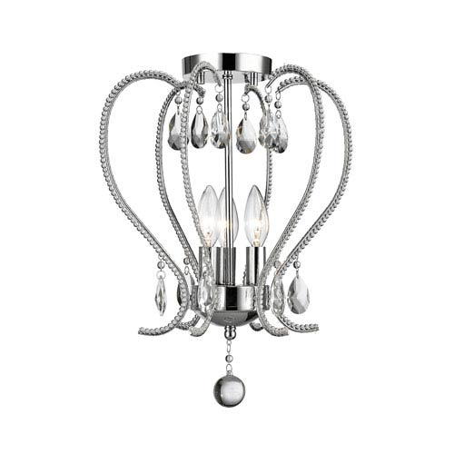Z-Lite Serenade Chrome Three-Light Semi Flush Mount