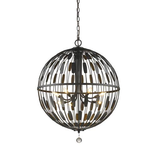 Almet Bronze Eight-Light Globe Pendant