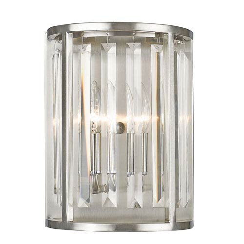 Monarch Brushed Nickel Two-Light Wall Sconce