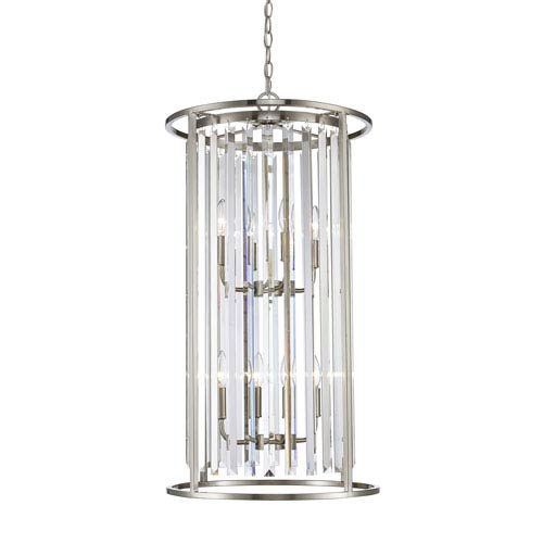 Monarch Brushed Nickel Eight-Light Pendant