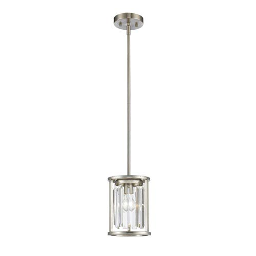 Monarch Brushed Nickel One-Light Mini Pendant