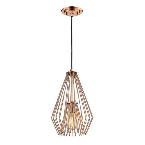 Quintus Copper 9-Inch One-Light Mini Pendant