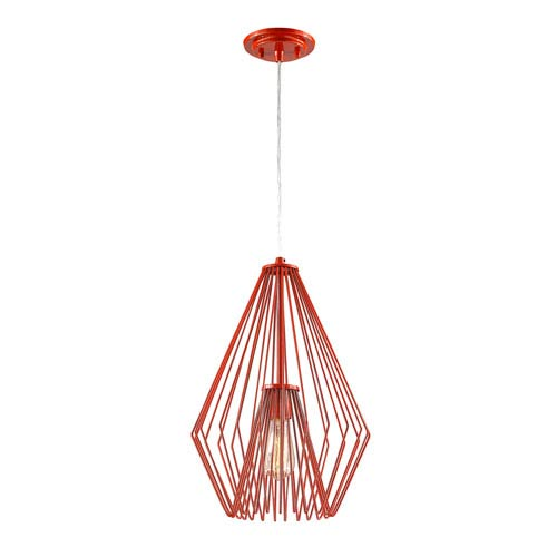 Quintus Red 12-Inch One-Light Pendant