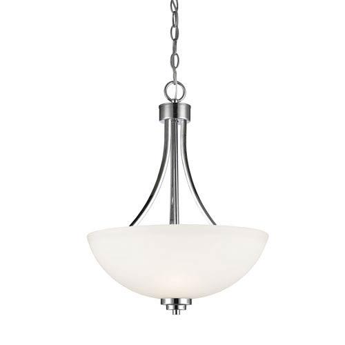 Ashton Chrome Three-Light Bowl Pendant