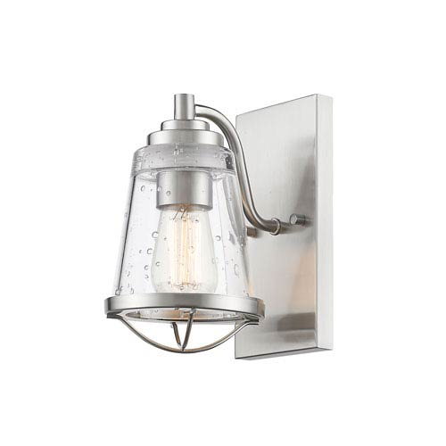 Z-Lite Mariner Brushed Nickel One-Light Wall Sconce