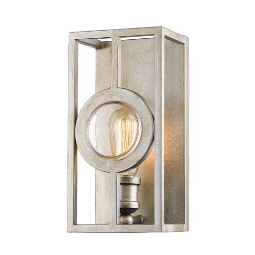 Port Antique Silver 6-Inch One-Light Wall Sconce
