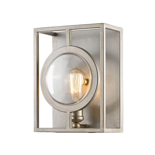 Port Antique Silver 9-Inch One-Light Wall Sconce