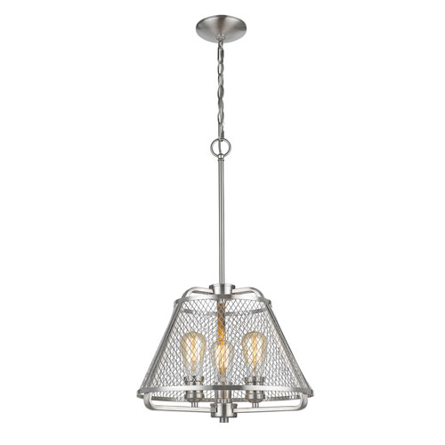Z-Lite Iuka Brushed Nickel Three-Light  Pendant