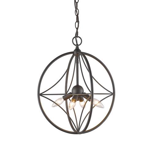 Cortez Bronze 16-Inch Four-Light  Pendant