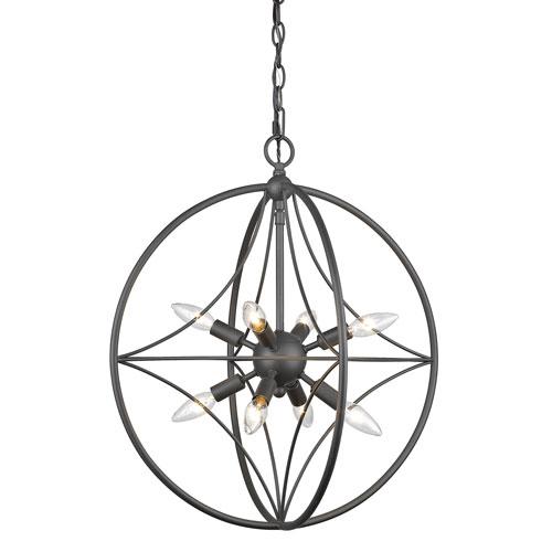 Z-Lite Cortez Bronze 20-Inch Eight-Light  Pendant