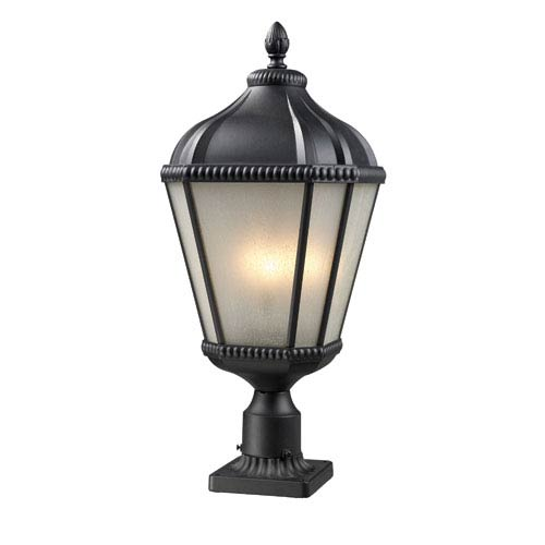 Waverly Black Three-Light 27-Inch Outdoor Pier Mount